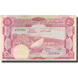Banknote, Yemen Democratic Republic, 5 Dinars, Undated (1965), KM:4b, VF(30-35)