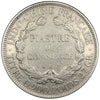 FRENCH INDO-CHINA, Piastre, 1887, Paris, KM #5, AU(50-53), Silver, Lecompte...