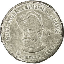 Coin, France, 5 Francs, 1887, EF(40-45), Tin