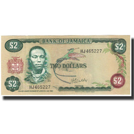 Banknote, Jamaica, 2 Dollars, L.1960, KM:69a, UNC(65-70)
