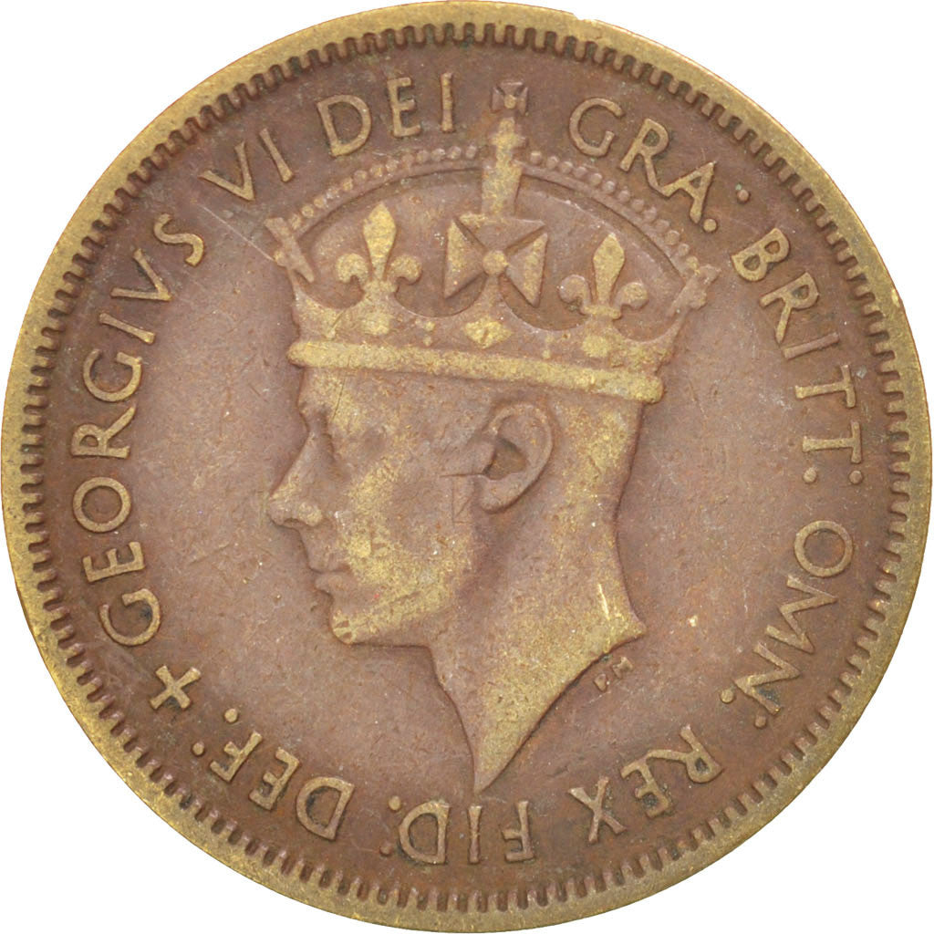 BRITISH WEST AFRICA, Shilling, 1952, KM #28, EF(40-45), Tin-Brass, 5.61