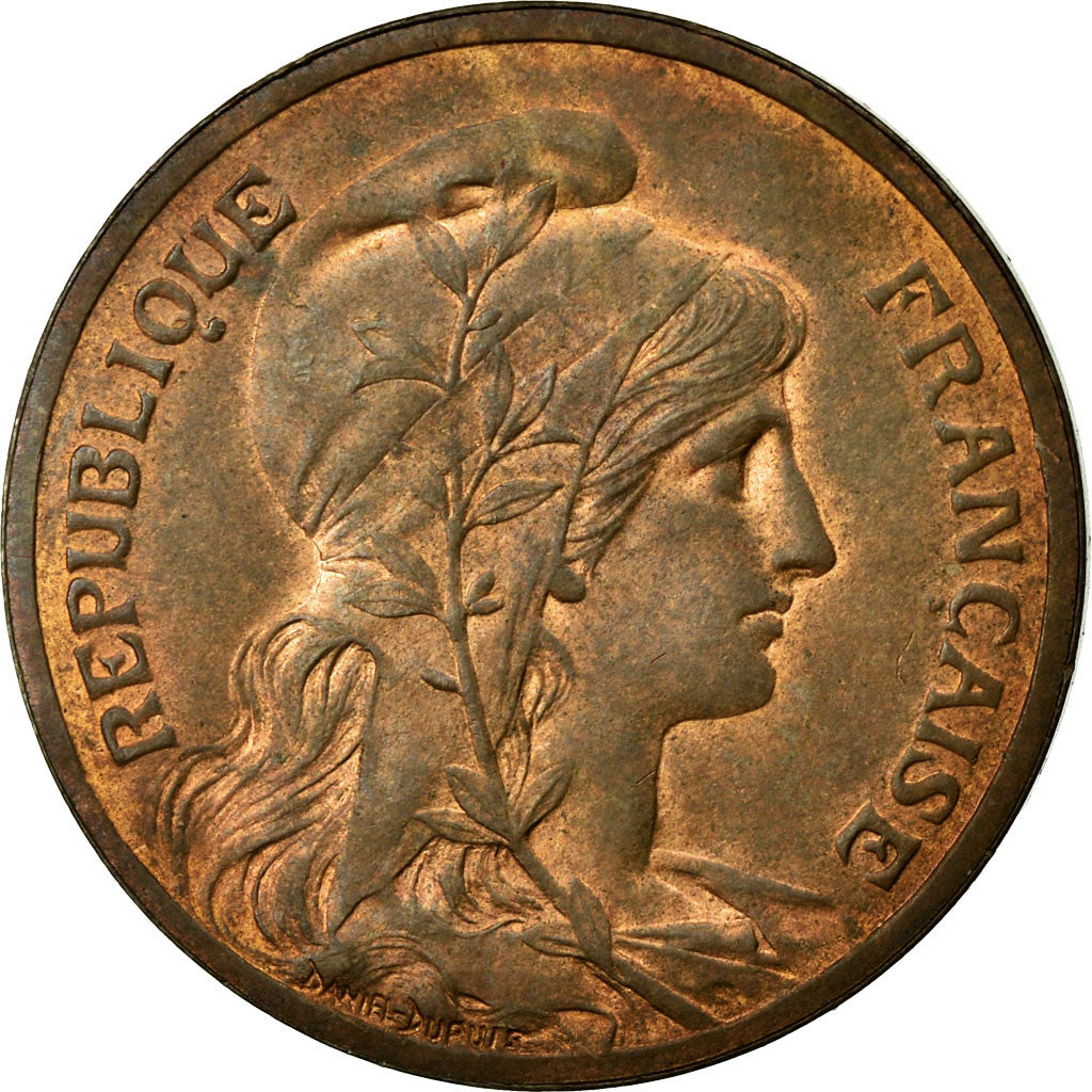 Coin, France, Dupuis, 5 Centimes, 1898, Paris, MS(60-62), Bronze, Gadoury:165