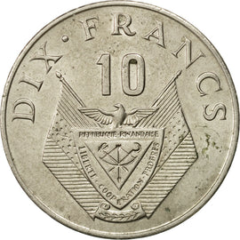 Coin, Rwanda, 10 Francs, 1974, British Royal Mint, EF(40-45), Copper-nickel