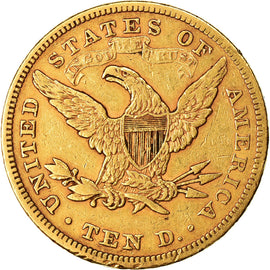 Coin, United States, Coronet Head, $10, Eagle, 1880, U.S. Mint, Philadelphia