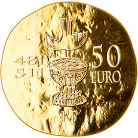 France, Clovis, 50 Euro, 2011, Paris, MS(65-70), Gold, KM:1801