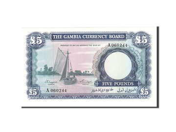 Banknote, Gambia, 5 Pounds, 1965, Undated, KM:3a, UNC(65-70)
