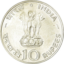 Coin, INDIA-REPUBLIC, 10 Rupees, 1970, Bombay, AU(50-53), Silver, KM:186