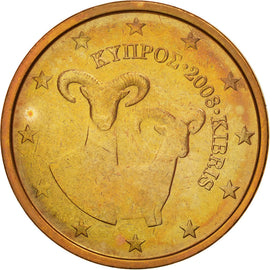 Cyprus, 2 Euro Cent, 2008, AU(55-58), Copper Plated Steel, KM:79
