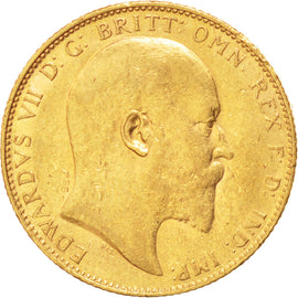 AUSTRALIA, Sovereign, 1909, Sydney, KM #15, AU(50-53), Gold, 21, 8.00
