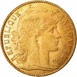 Coin, France, Marianne, 10 Francs, 1914, Paris, EF(40-45), Gold, KM:846