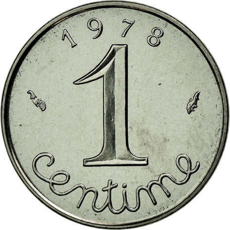 Coin, France, Épi, Centime, 1978, Paris, MS(65-70), Stainless Steel, Gadoury:91