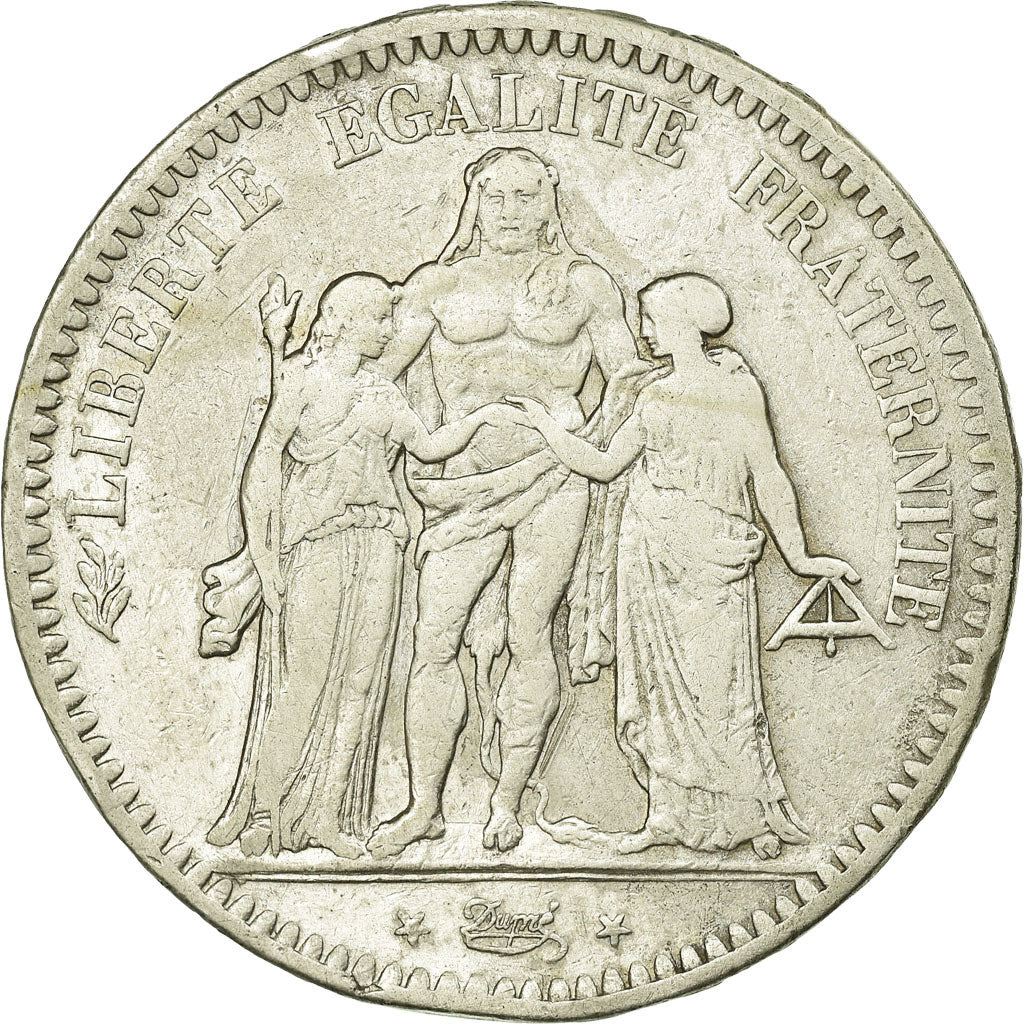 Coin, France, Hercule, 5 Francs, 1848, Bordeaux, VF(30-35), Silver, Gadoury:683