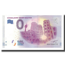 Germany, Tourist Banknote - 0 Euro, Germany - Düsseldorf - Buildings de Gehry -