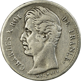 Coin, France, Charles X, 1/4 Franc, 1826, Lille, VF(20-25), Silver, KM:722.12