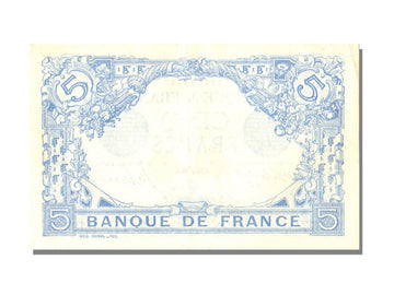 France, 5 Francs, 5 F 1912-1917 ''Bleu'', 1916, KM #70, 1916-03-14, UNC(60-62),.