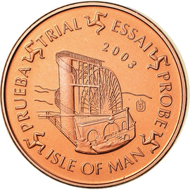 Isle of Man, Medal, 1 C, Essai Trial, 2003, MS(63), Copper