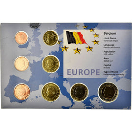 Belgium, 1 Cent to 2 Euro, 1999-2000, MS(65-70)