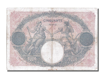 Banknote, France, 50 Francs, 50 F 1889-1927 ''Bleu et Rose'', 1926, 1926-10-11