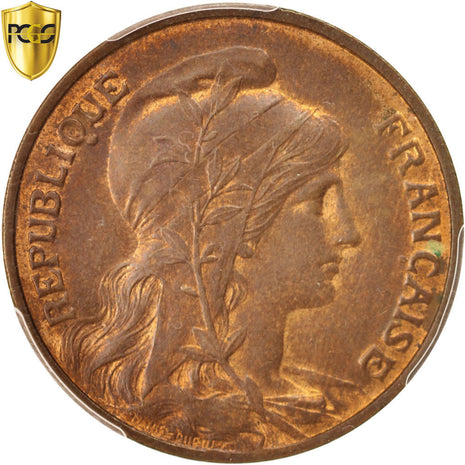 Coin, France, Dupuis, 10 Centimes, 1900, Paris, PCGS, MS64BN, MS(64), Bronze