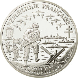 Coin, France, 1 Franc D Day, 1993, MS(65-70), Silver, KM 1014