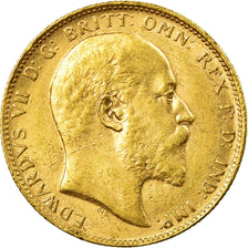 Coin, Australia, Edward VII, Sovereign, 1902, Perth, AU(50-53), Gold, KM:15