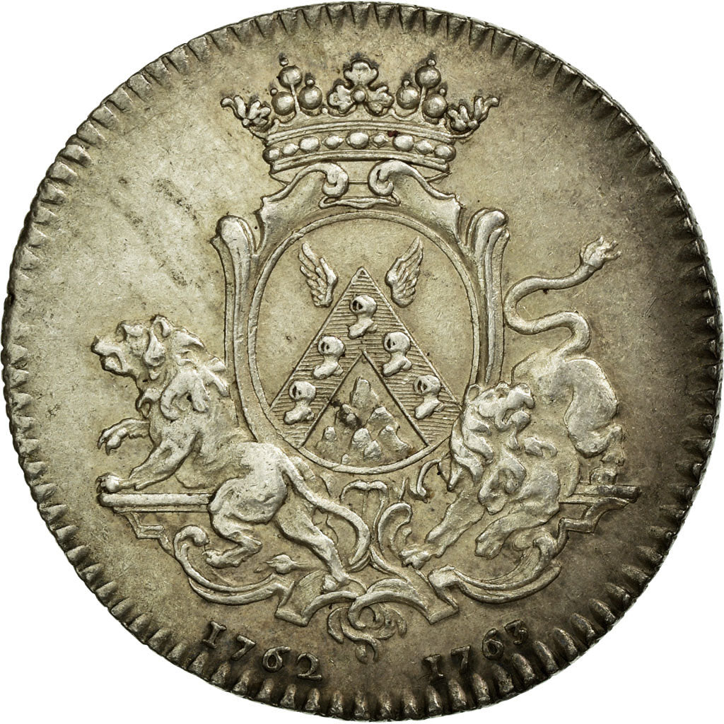 France, Token, Royal, 1762, AU(55-58), Silver, Feuardent:8924