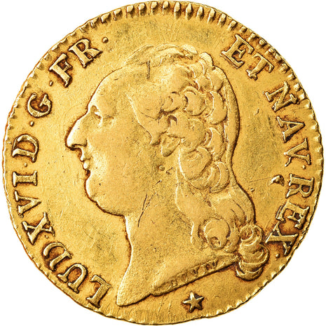 Coin, France, Louis XVI, Louis d'or à la tête nue, Louis d'Or, 1788, Lille