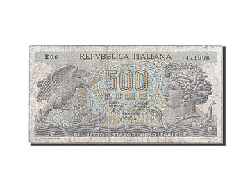 Banknote, Italy, 500 Lire, 1967, 1967-10-20, VG(8-10)