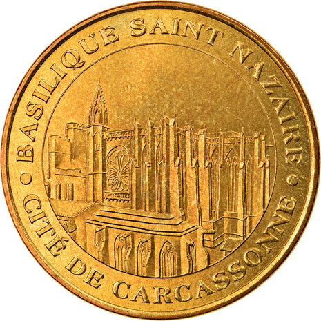 France, Token, Touristic token, 11/ Basilique Saint-Nazaire - Carcassonne, Arts