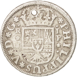SPAIN, Real, 1737, Seville, KM #354, EF(40-45), Silver, 2.77