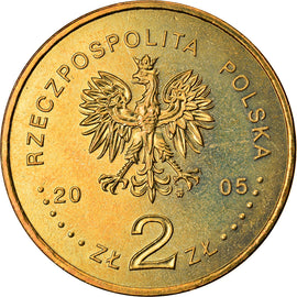 Coin, Poland, Solidarnosc, 2 Zlote, 2005, Warsaw, MS(63), Brass, KM:565
