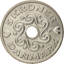 Coin, Denmark, 5 Kroner, 2014, MS(63), Copper-nickel