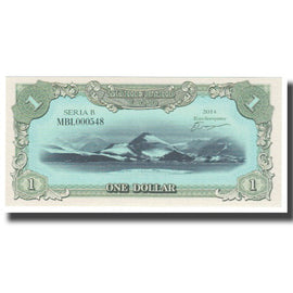 Banknote, Artic, 1 Dollar, 2014, UNC(65-70)