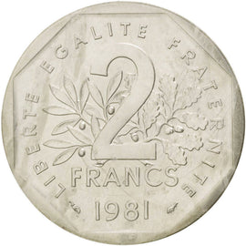 Coin, France, 2 Francs, 1981, MS(65-70), Silver, KM:P704, Gadoury:123.P2