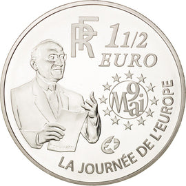 Coin, France, 1-1/2 Euro, 2006, Paris, MS(65-70), Silver, KM:2037