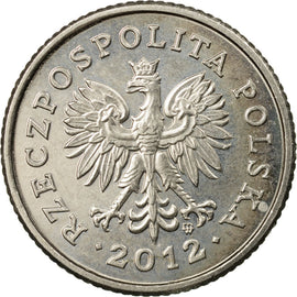 Coin, Poland, 50 Groszy, 2012, Warsaw, EF(40-45), Copper-nickel, KM:281