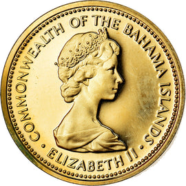 Coin, Bahamas, Elizabeth II, Cent, 1973, Franklin Mint, U.S.A., MS(65-70)