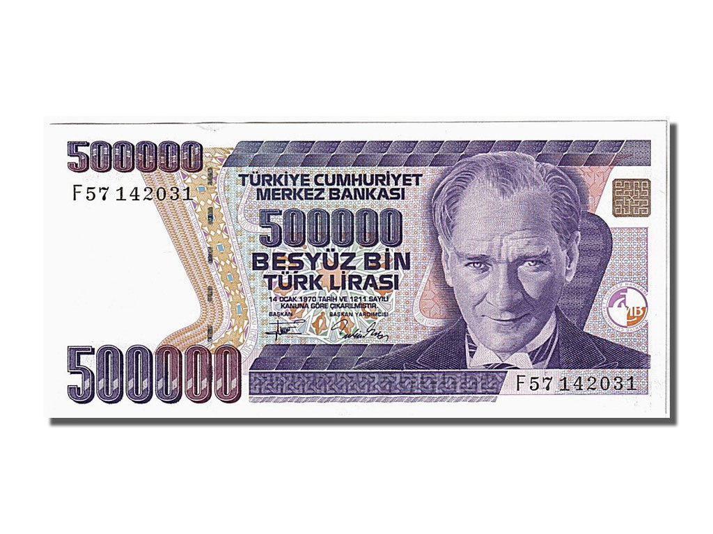 Turkey, 500,000 Lira, 1970, KM #208, UNC(65-70), F57142031