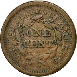 Coin, United States, Braided Hair Cent, Cent, 1851, U.S. Mint, Philadelphia