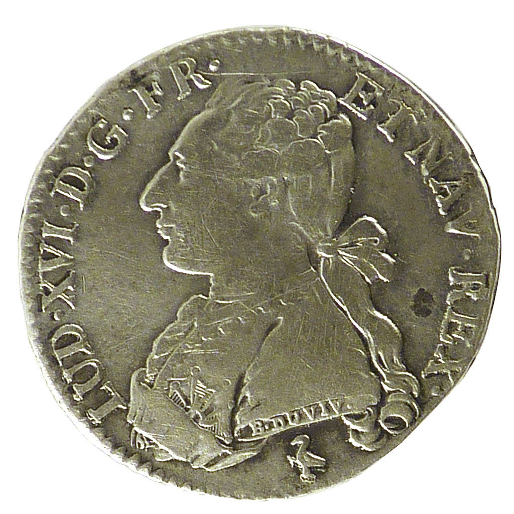 FRANCE, 1/5 Écu, 24 Sols, 1/5 ECU, 1784, Paris, KM #569.1, EF(40-45), Silver, ..