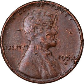 Coin, United States, Lincoln Cent, Cent, 1956, U.S. Mint, Denver, VF(20-25)