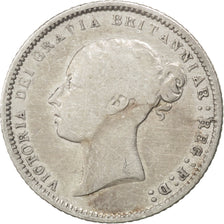 GREAT BRITAIN, 6 Pence, 1871, KM #751.1, VF(30-35), Silver, 2.73