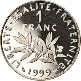 Coin, France, Semeuse, Franc, 1999, Proof, MS(65-70), Nickel, KM:925.2
