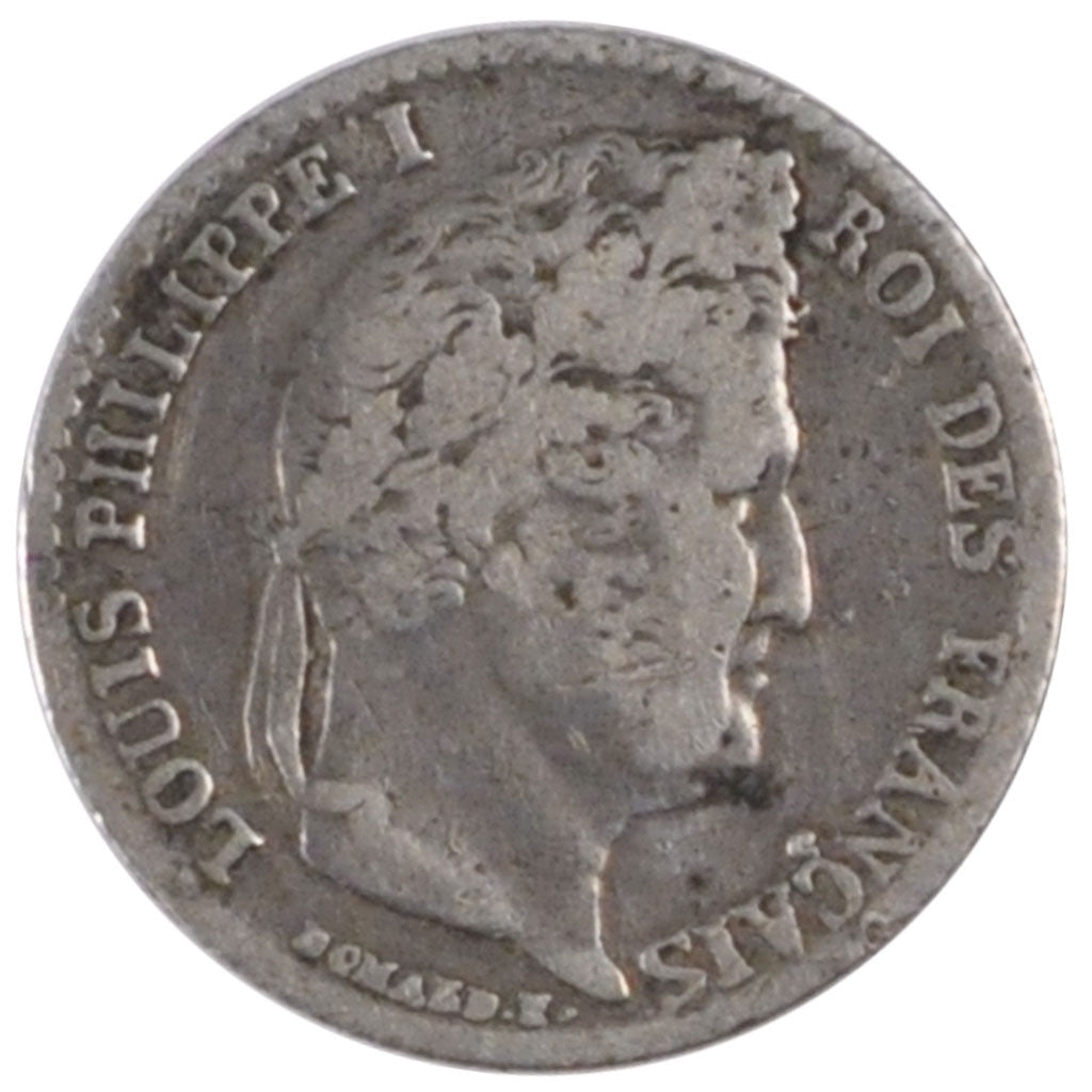 FRANCE, Louis-Philippe, 1/4 Franc, 1840, Lille, KM #740.13, VF(30-35), Silver,..