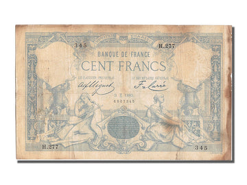 France, 100 Francs, ...-1889 Circulated during XIXth, 1882, KM #63b,...