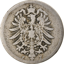 Coin, GERMANY - EMPIRE, Wilhelm I, 10 Pfennig, 1875, Stuttgart, VF(30-35)