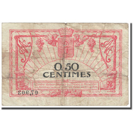 France, Montpellier, 50 Centimes, 1917, Chambre de Commerce, VG(8-10)
