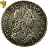 France, Louis XIV, Lis d'Argent, 1656, Paris, KM:194, PCGS XF40