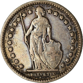 Coin, Switzerland, Franc, 1914, Bern, VF(30-35), Silver, KM:24