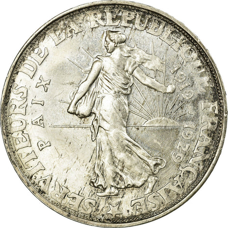 Coin, France, 20 Francs, 1929, MS(60-62), Silver, Gadoury:851
